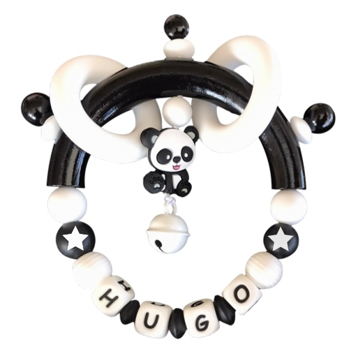 sonajero mordedor silicona panda