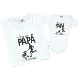 dad runner baby t shirt bodysuit