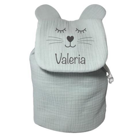 mochila personalizada menta