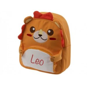 mochila niño personalizada león