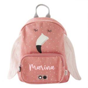 mochila flamenco niña personalizada